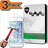[3-Pack] iPod Touch 6&5 Screen Protector, PThink® [Tempered Glass] [9H Hardness] [Anti-Scratch] [Fingerprint Resistant] [Easy-Install] Glass Screen Protector for iPod Touch 5th/6th Generation (3-Pack)