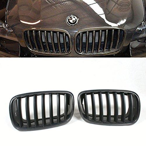JCSPORTLINE Carbon Fiber Kidney Front Grille for BMW E70 X5 E71 X6 2007-2011