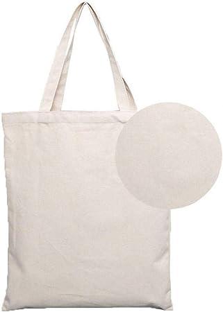 Blanco Bolsas De Mano De Tela De Algodón Bolsas Portátiles De Bolsas De Almacenamiento De Bolsas Reutilizables con Cremallera para La Escuela De Compras En El Supermercado Blanca 1pc 45 Cm: Amazon.es: