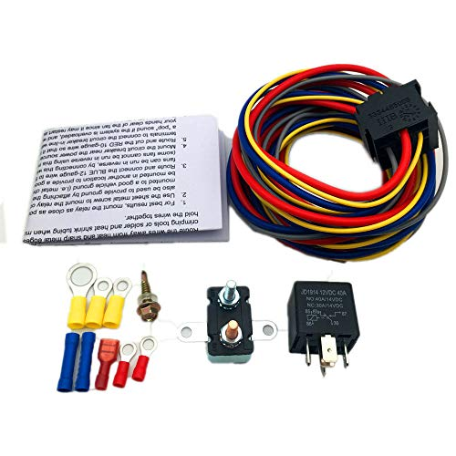 ALLMOST 40205G Electric Fuel Pump Harness and Relay Wiring Kit NEW ()