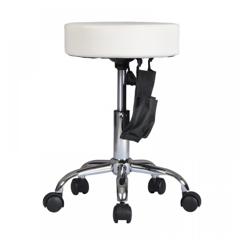New White Adjustable Hydraulic Rolling Swivel Stool Tattoo Facial Massage Beauty Salon! #249