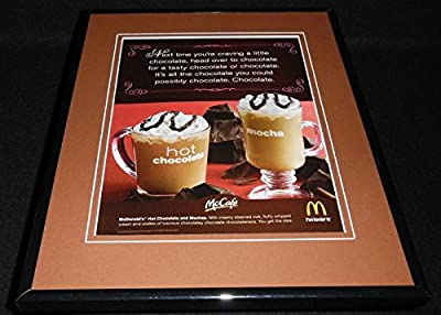 2009 McDonald's McCafe Hot Chocolate Mocha Framed 11x14 ORIGINAL Advertisement