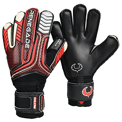 R- GK Vulcan Raze Flat Cut (Size 11) Soccer Goalkeeper Gloves With Pro Fingersaves - Lastest Adult & Youth Soccer Goalie Gloves - Training & Match - Mens, Womens, Boys, (Goalkeeper Training)