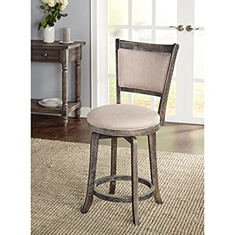 Swell Amazon Com Simple Living French Country Grey Swivel Stool Caraccident5 Cool Chair Designs And Ideas Caraccident5Info