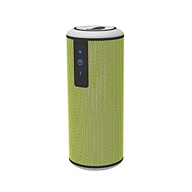 Trendwoo Outdoor Waterproof Bluetooth V4.0 Portable Speaker with DSP Noise Reduction Dual X-Bass Driver and up to 15 Hours Playtime for iPhone Samsung and More (Green)
