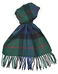 Lambswool Scottish Gunn Modern Tartan Clan Scarf Gift