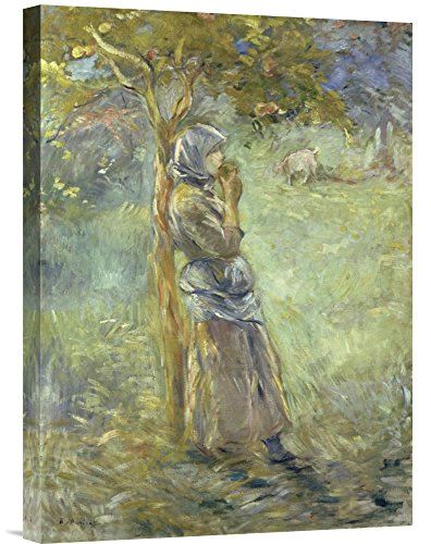 Global Gallery Budget GCS-282574-22-142 Berthe Morisot Under The Apple Tree Gallery Wrap Giclee on Canvas Wall Art Print ()