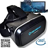 Gearzoid VR 360 Virtual Reality Google Cardboard Viewing Glasses-VR Headset Compatible with 4-6 inch Android Windows & IOS Smartphones-Iphone/4/5/6 Samsung Galaxy S 4/5/6/7 Edge Moto Nexus HTC LG
