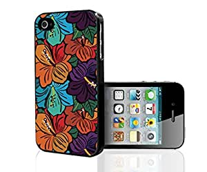 Colorful Floral Print Hard Snap on Phone Case (iPhone 4/4s) by lolosakes