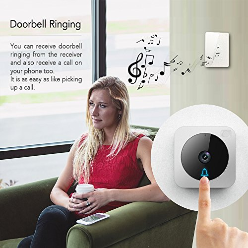 Wifi Video Doorbell,Works with Alexa Echo Show,Netvue Vuebell Doorbell Camera 720P HD Cam,Cloud Storage,Two-Way Audio,Smart Motion Detection,Infrared Night Vision AC 8-24V DC 9-36V(Hard Wire version) by NETVUE (Image #4)