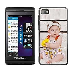 Be Good Phone Accessory // Dura Cáscara cubierta Protectora Caso Carcasa Funda de Protección para Blackberry Z10 // Wonder Cute Kid Mother Love