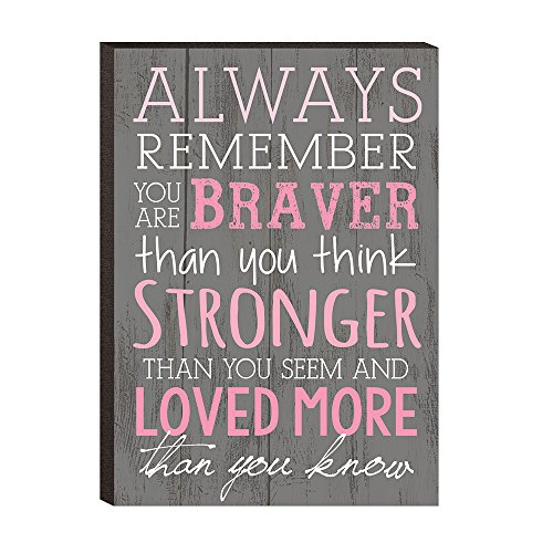 Always Remember Braver Think Plaque product image