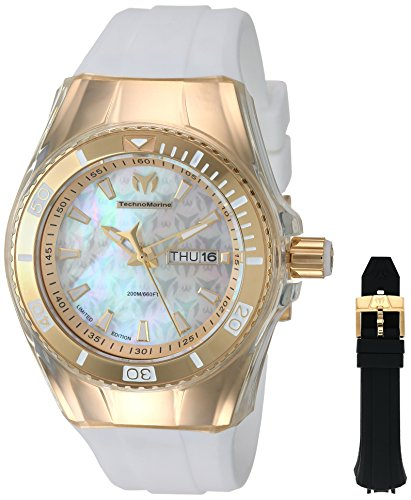 Technomarine Women's 'Cruise' Quartz Stainless Steel and Silicone Casual Watch, Color:White (Model: TM-115324)