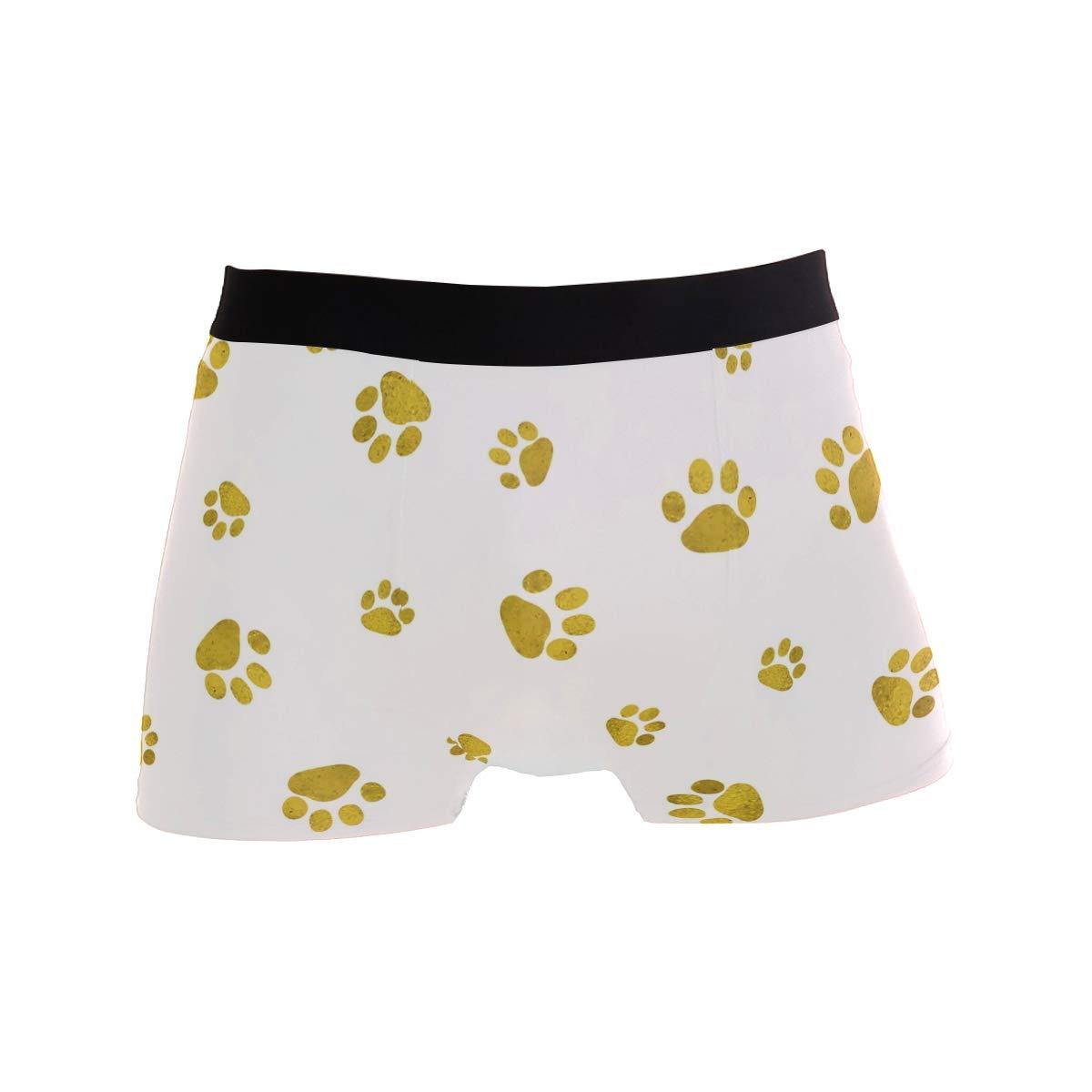 Mens Underwear Cat Paw Boys Boxer Brief