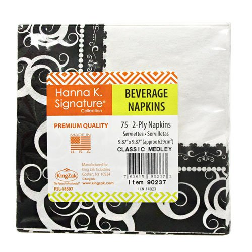 Signature Collection 75 Count Classic Medley Paper Beverage Napkin Hanna K