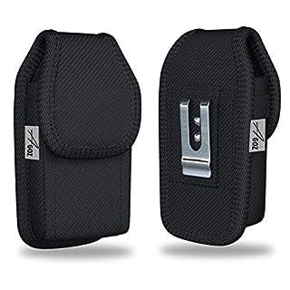 AGOZ Rugged Kyocera DuraXV DuraXA E4520, DuraXE E4710, Dura XTP Belt Clip Case, Heavy Duty Tactical Vertical Carrying Canvas Holster Pouch Cover with Belt Loops & Metal Belt Clip Dura XV XA