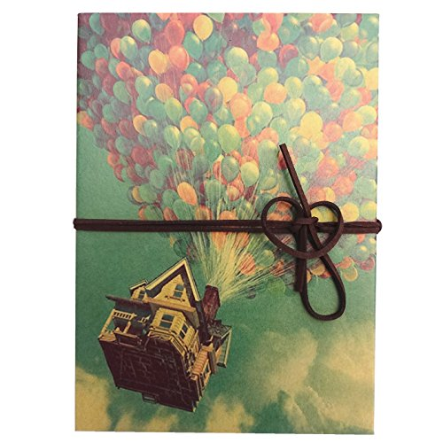 Duolaisu DIY Handmade Kraft Paper Accordion Style Photo Album 8.3x6Inch, One Self-adhesive Photo Corners
