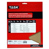 Task Tools PA15120 9-Inch by 11-Inch Premium Aluminum Oxide Sandpaper, 120 Grit, 5-Pack