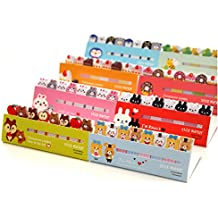 DoDoo Set of 4 Lovely Cute Cartoon Animal Bear Rabbit Bee Note Sticky Notes Memo Note Pads Page Flag Markers Bookmarks(4 booklets each with 8 pads,15 Sheets each)