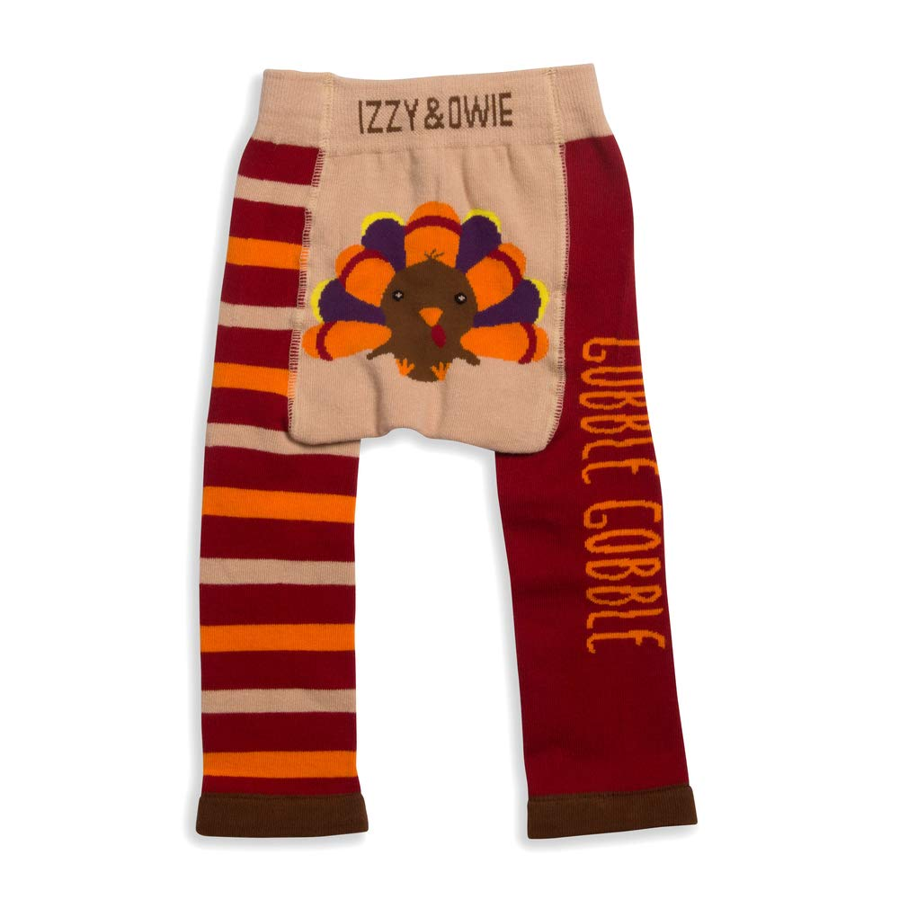 Brown Pavilion Gift Company Izzy /& Owie-Turkey Thanksgiving 6-12 Month Unisex Baby Leggings 6-12 M