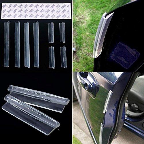 AmerStar 8Pcs Car Door Protector Edge Guard Strip Scratch Anti-collision Trim Accessories