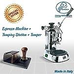 LaGondola-Bundle-Macchina-Caffe-Espresso-Cromata-La-Pavoni-Professional-con-Manometro-e-Pressino-in-Metallo-Motta-Supporto-Portafiltro-e-set-6-Simpatiche-Tazzine-Bicchieri-in-Vetro-Made-In-Italy