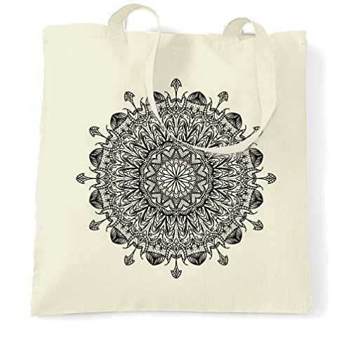 India Tote Design Floral Present Natural Mehndi Summer Bag Illustration Henna Print Intricate Carrier Cool Mandala Pattern Hindi Gift Girls Funny Shopping RnqWPHI7