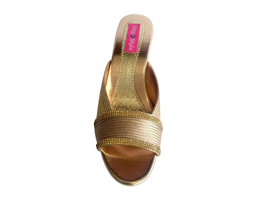 Schritt N Style Frauen Heels mit Party Hochzeit Schuhe Abend Frauengewand Mojari Jooti, Beige - Sultan - Größe: 39 1/3 Step n Style