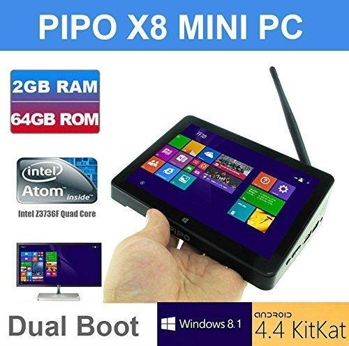 "TOZO Pipo X8 Wifi 2G RAM 64GB ROM Tablet Mini PC Desktop Laptop TV Box Intel Atom Z3736f Quad Core 2.16 GHz Dual System Windows 8.1 Android 4.4 KitKat HDMI 7"" IPS Screen Mini PC 2G RAM 64GB ROM"