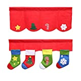 BigFamily 2Pcs/Set Xmas Curtains Pennant Decors Supplies Christmas Stockings Decorative Festival Home Windows