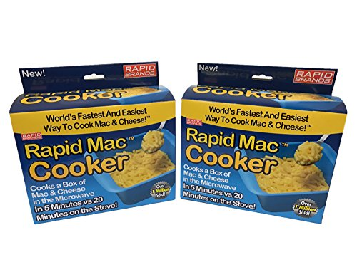 (Rapid Mac Cooker - Microwave Boxed Macaroni and Cheese in 5 Minutes - BPA Free and Dishwasher Safe)
