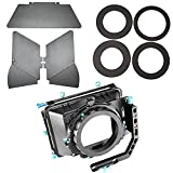 Neewer Aluminum Alloy Swing-away Design Matte Box with Filter Tray,Fit 15mm Rail Rod Rig,for Nikon Canon Sony Fujifilm Olympus DSLR Camera,Camcorder Video Movie Film Making System