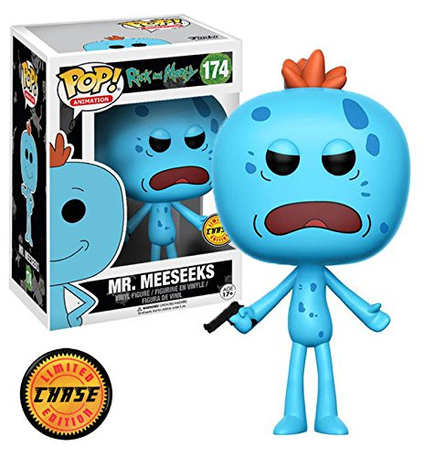 Funko POP! Animation Rick & Morty Mr. Meeseeks Chase Variant Vinyl Figure (Rick And Morty Universe In A Box)