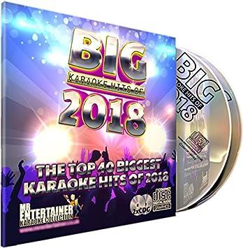 Mr Entertainer Big Karaoke Hits of 2018 - Double CD+G (CDG) Pack  40 Top  Chart Songs