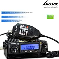 Mobile Radio LT-580 UHF Gmrs Two Way Mobile Radio 45 Watts 400-490Mhz with Free Programming Cable Long Distance Transceiver Repeater Support By LUITON
