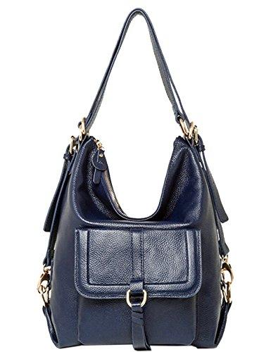 Menschwear Moda Mujer Chica funda mochila escolar bolsa Marrón Azul