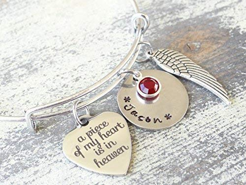 A Piece of My Heart is in Heaven bracelet//keychain/Necklace, sympathy gift, Memorial gift.