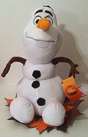 Disney Frozen 2 Ft Autumn Harvest Plush Porch Greeter Olaf On Leaves (Plush Porch Greeter)