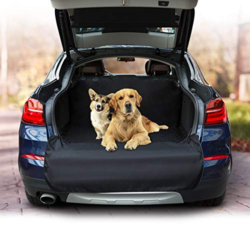 Docamor Cargo Liner Cover for SUVs and Cars-Universal Pet Seat Cover for Cars-Deluxe 3 Layers-Waterproof Material-Non-Slip Design-Easy to Install and Remove- Extra Bumper Flap Protector
