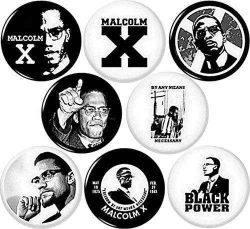 Malcolm X 8 1 Inch Pins...