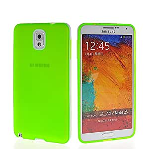 GUANHAO Soft Flexible Gel Tpu Silicone Etui Back Case Cover For Samsung Galaxy Note 3 N9000 Green