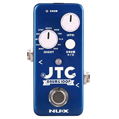 NUX JTC Mini Guitar Looper Auto Detection Drum Machine 24 bit Audio 6 Minutes Recording Time Playing in Tempo,the Drum will follow the loop speed automatically (Best Drum Pedal For Guitar)