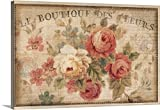 Danhui Nai Premium Thick-Wrap Canvas Wall Art Print entitled Parisian Flowers III 48''x32''