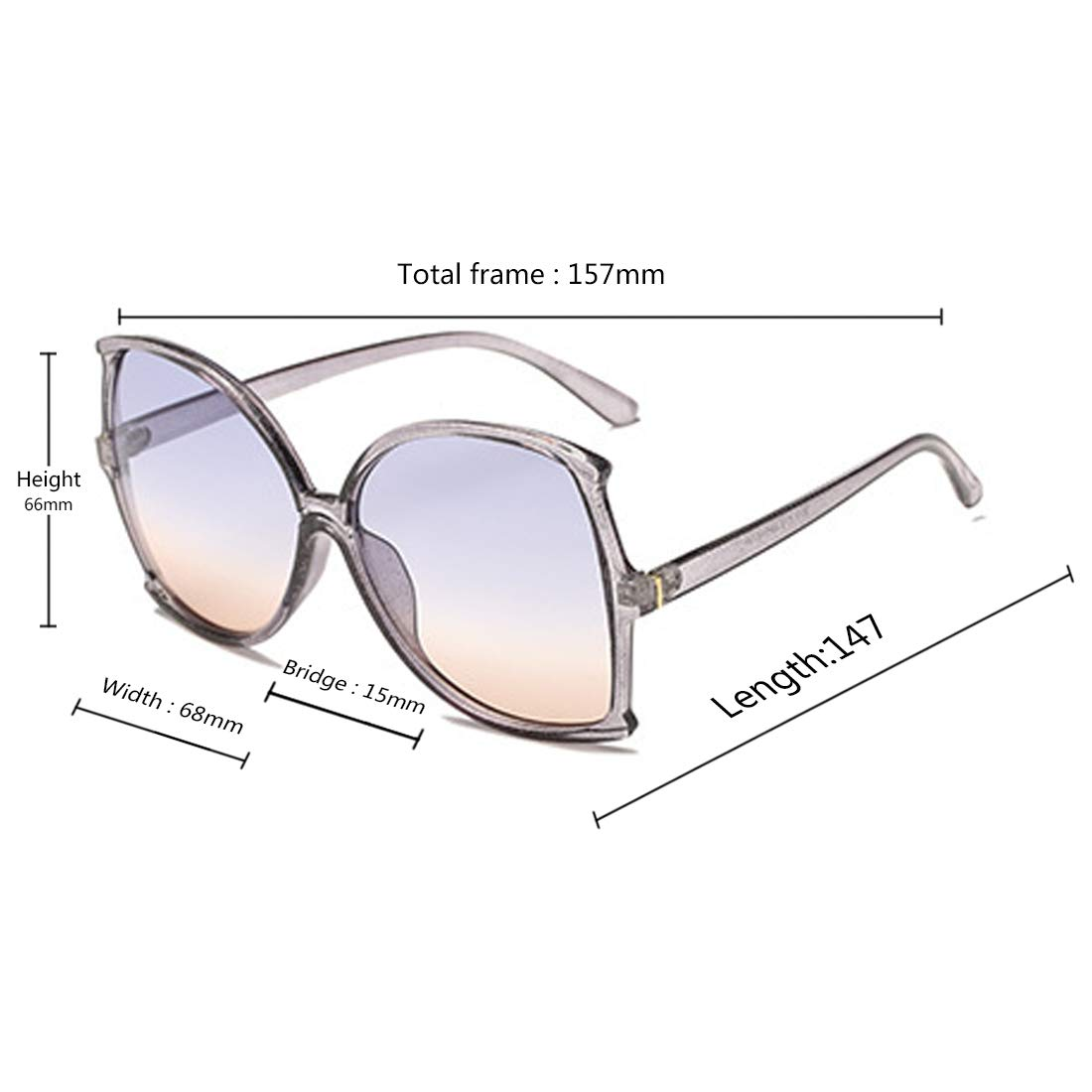 Fulision women fashion Simple sunglasses Retro glasses Men and women Sunglasses