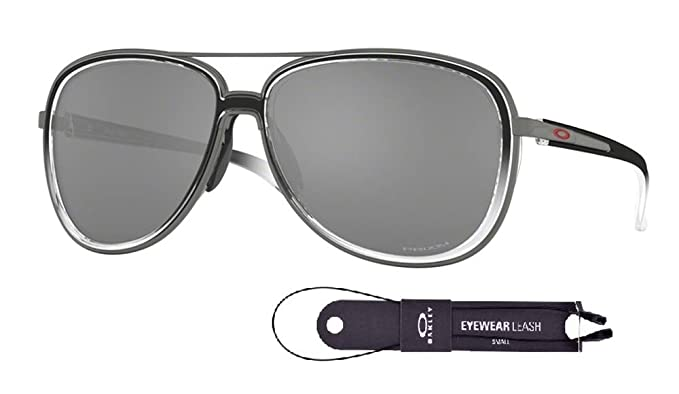 524f3ee94 Oakley Split Time OO4129 412911 58M Black Clear Fade/Gunmetal/Prizm Black Polarized  Sunglasses