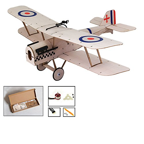 Balsa Wood Airplane Kit Micro 3 CH s.e.5a Royal Biplane Figther by DW Hobby Remote Control Plane for Adults;RC Un-Assembled Flying Model for Fun;Different Sets for Choice (K0402)