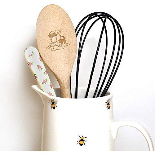 Azeeda 300mm (12 Inch) 'Beach Sandals' Wooden Spoon (SN00037163) 6R8GmUH7