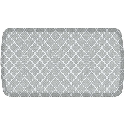 GelPro Elite Premier Anti-Fatigue Kitchen Comfort Floor Mat, 20x36'', Lattice Light Grey Stain Resistant Surface with therapeutic gel and energy-return foam for health & wellness by GelPro