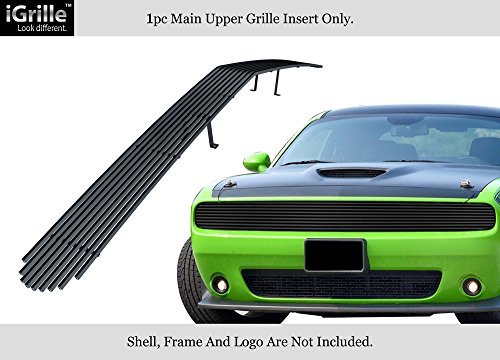 APS Compatible with 2015-2019 Dodge Challenger Phantom Stainless Black Billet Grille Insert D66337J