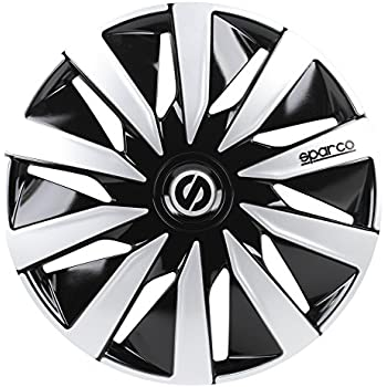 Sparco SPC1691BKSV Wheel Covers Lazio 16-inch Black/Silver